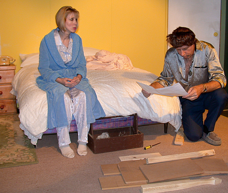 Bedroom farce mt cotton drama group for Farcical antonym